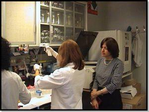 משגיחה של פועה במעבדה